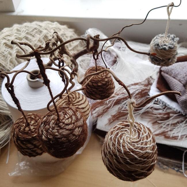 Francesca Miotti Hand-Woven Basket Bells